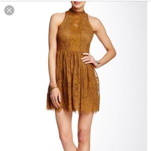 Free people gold dress